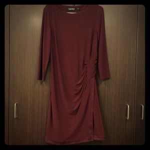 Elegant maroon dress